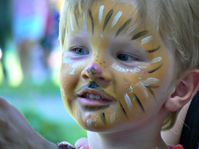 image of child with face paint